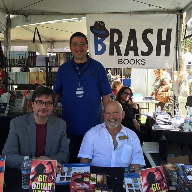 Lee with Phoef Sutton and Craig Faustus Buck at the Los Angeles Times Festival of Books 2015