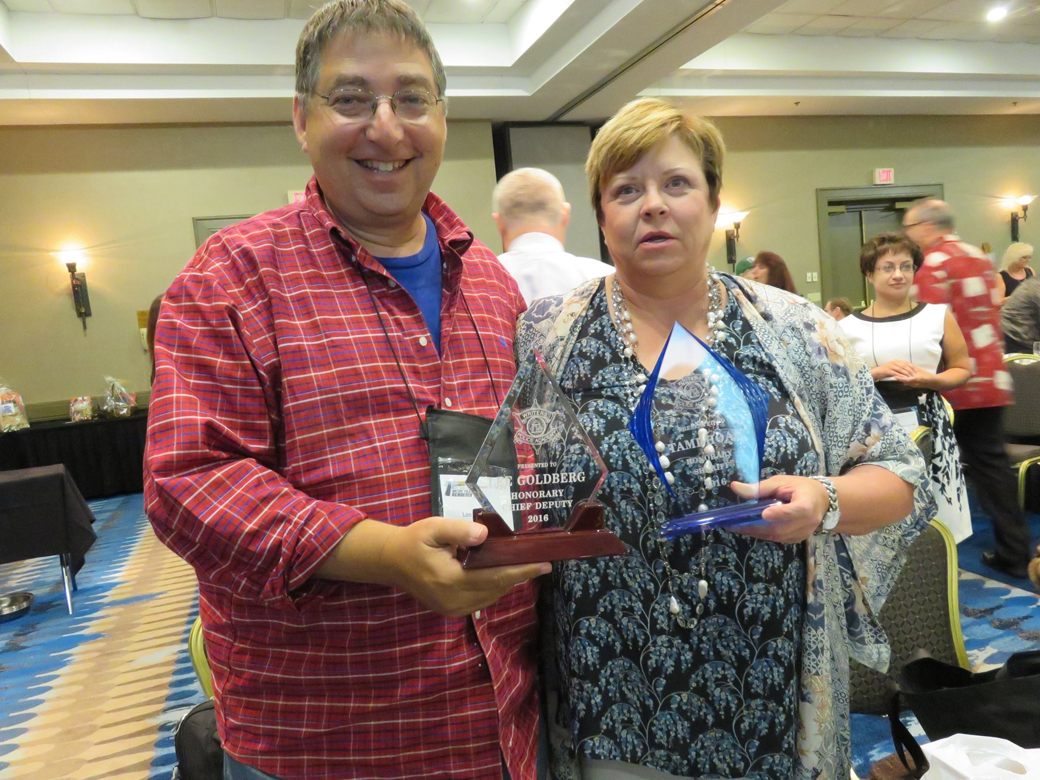 Lee & Tami Hoag at the Writers Police Academy 2016