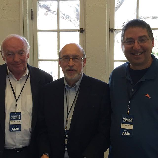 Joseph Kanon, Thomas Perry, and Lee at the Los Angeles Times Festival of Books 2015