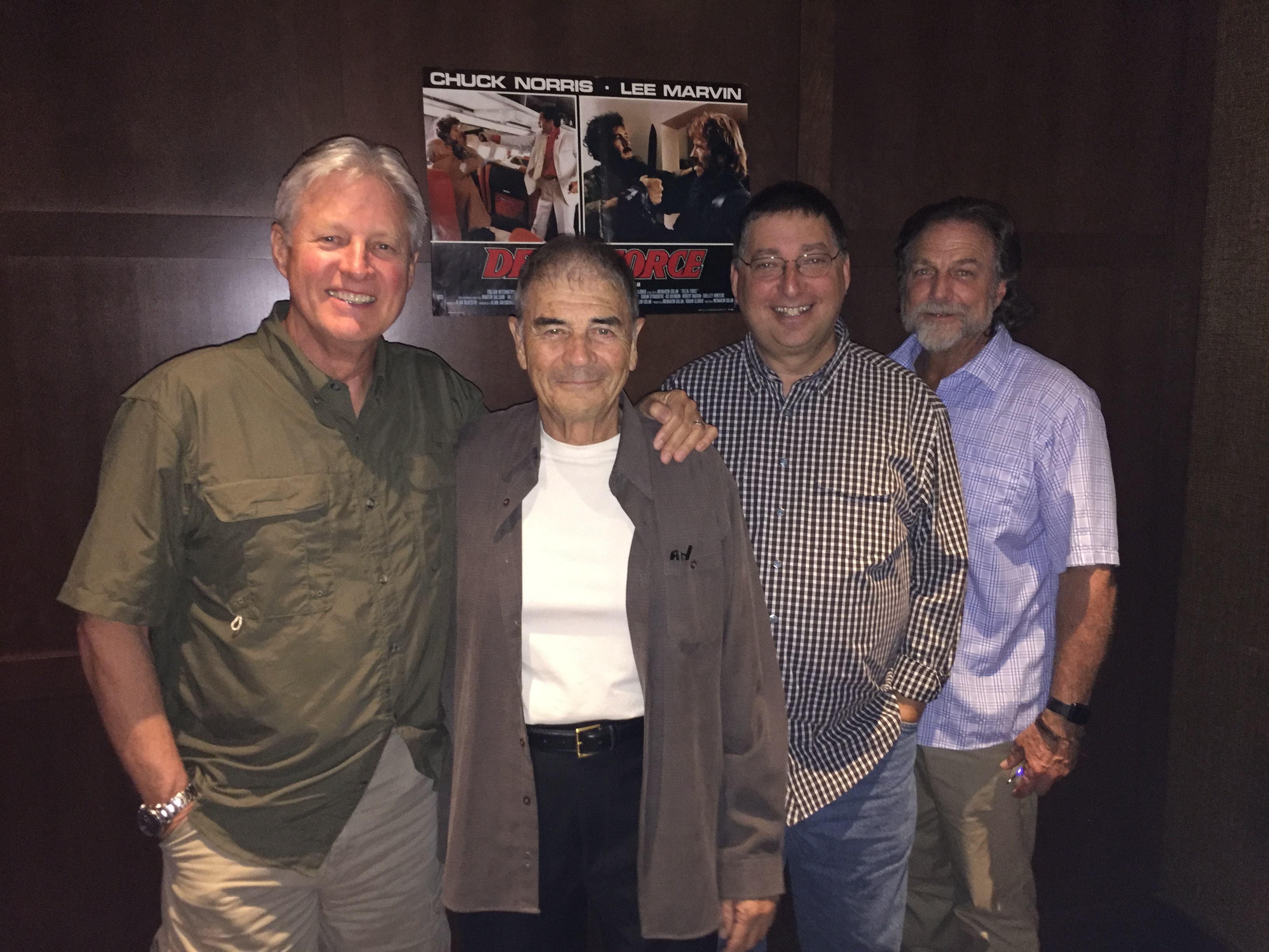 Bruce Boxleitner, Robert Forster, Lee Goldberg and Darby Hinton lunching at The Palm (July 2018)