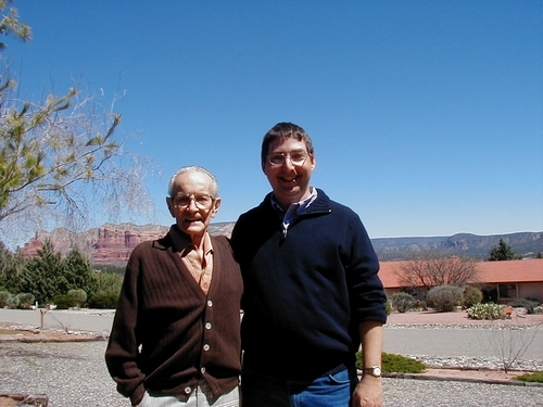 Richard S. Prather & Lee Goldberg in Sedona, AZ 2006