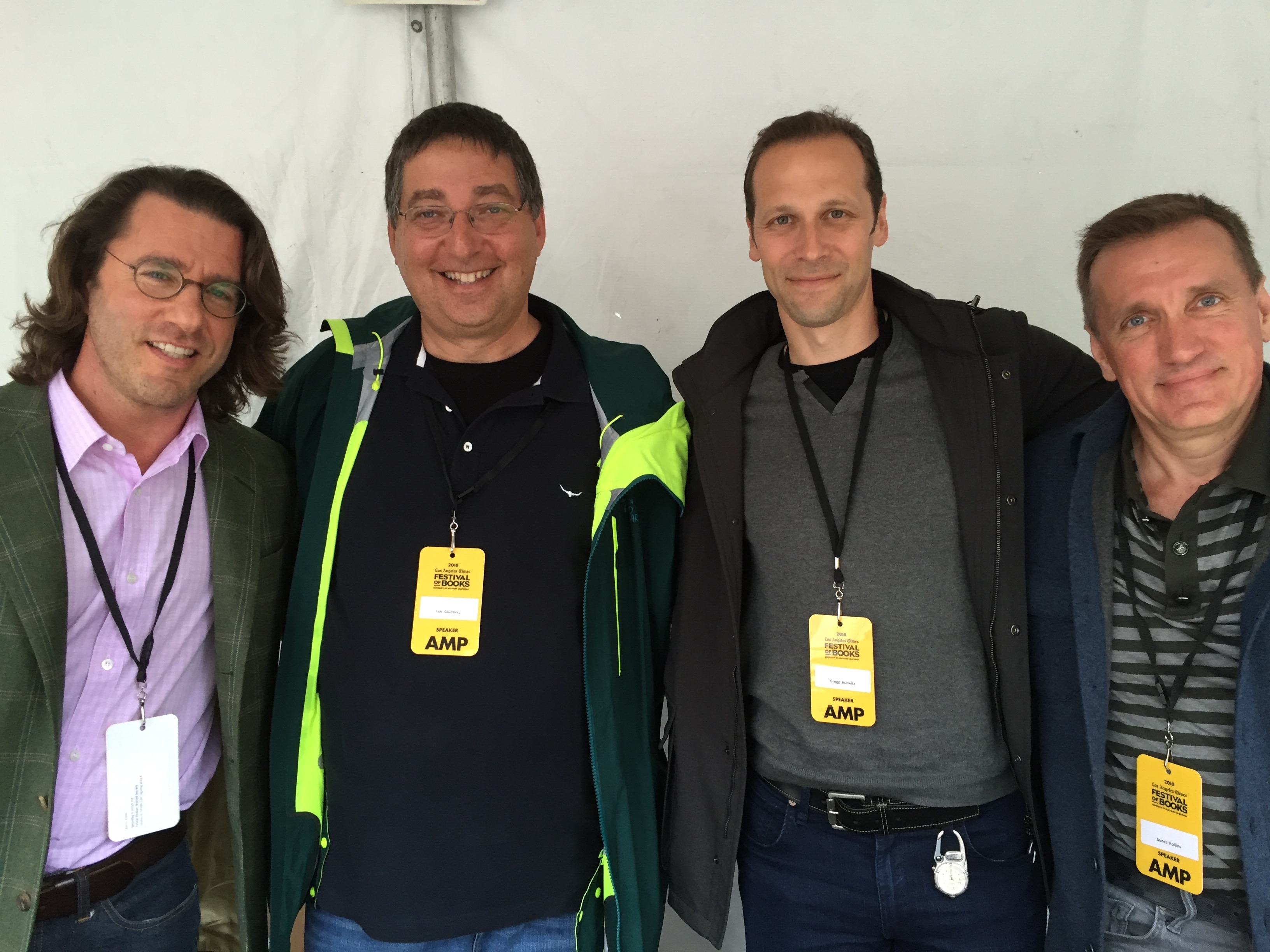 Barry Eisler, Lee Goldberg, Gregg Hurwitz and James Rollins at the Los Angeles Times Festival of Books 2016