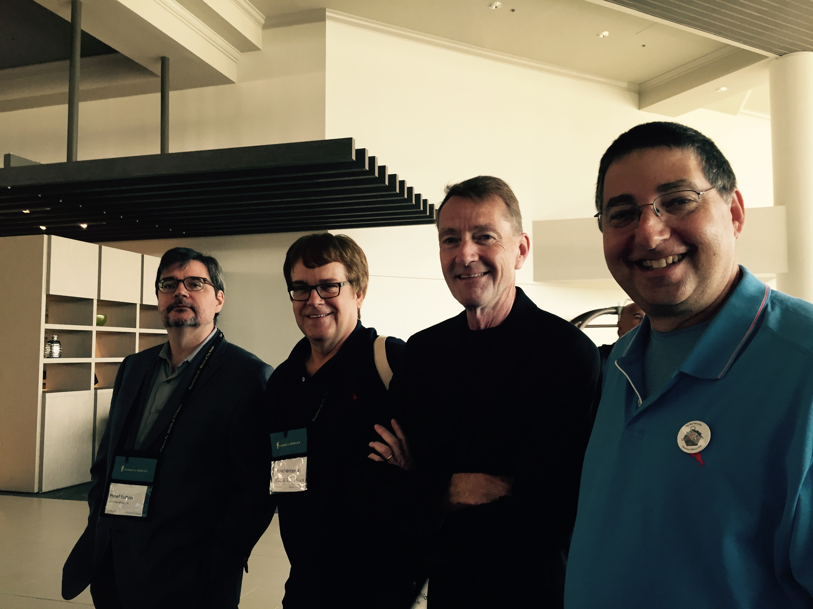 Phoef Sutton, Max Collins, Lee Child and Lee Goldberg at Bouchercon 2014