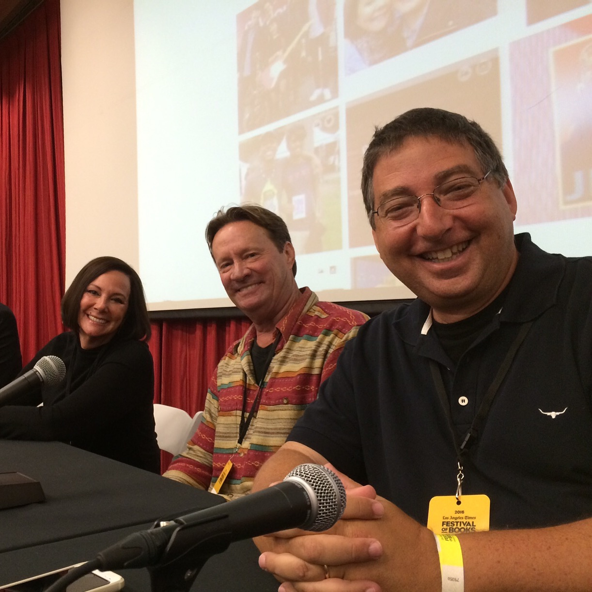 Marcia Clark, T. Jefferson Parker and me on a panel at the Los Angeles Times Festival of Books
