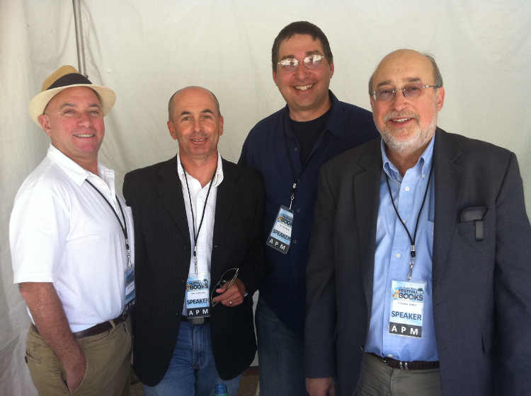 Jon Vorhaus, Don Winslow,  Lee, Thomas Perry at LA Times Festival of Books