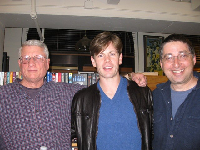 John Morgan Wilson, Christopher Rice, and Lee Goldberg at Men of Mystery