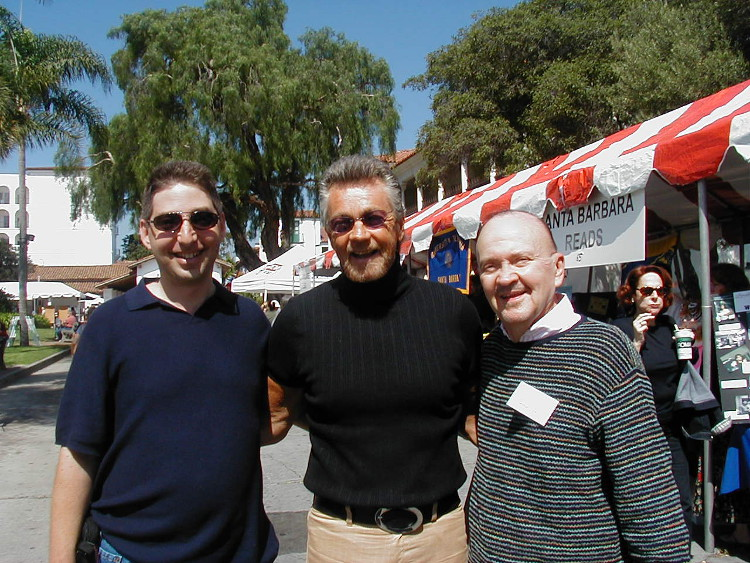 Lee Goldberg, Stephen J. Cannell, and William Link at Santa Barbara Book Festival