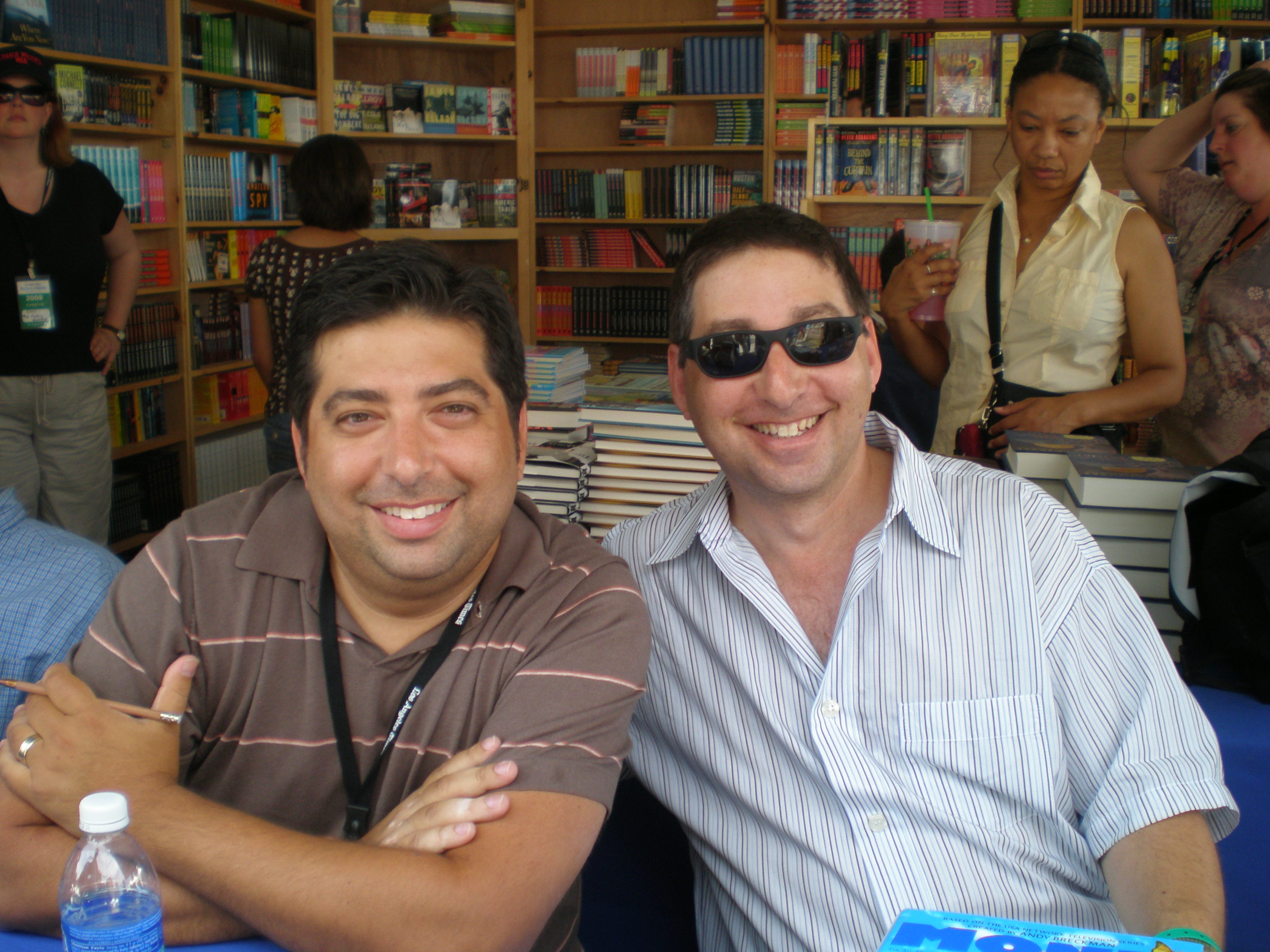 Tod Goldberg and Lee at the LA Times Festival of Books