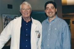 Lee and Peter Graves on the set of Diagnosis Murder