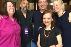 Lita Weissman, Gar Anthony Haywood, Lee, Laura Lippman and Megan Abbott at the LA Times Festival of Books 2017