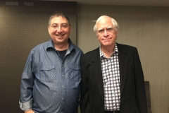 lee and novelist John Sandford at Thrillerfest 2018