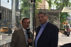 Behind the scenes with WABC weatherman Lee Goldberg and Lee Goldberg on the air (July 2018)