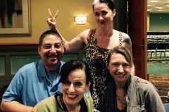 Lee Goldberg, Christa Faust, Alison Gaylin and Michelle Gagnon at Bouchercon 2014