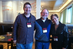 Lee Goldberg, WIlliam Kent Krueger and Libby Fischer Hellman at Love is Murder in Chicago