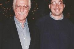 Dick Van Dyke and Lee Goldberg at Diagnosis Murder wrap party