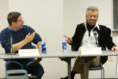 Lee Goldberg and Stephen J Cannell at Bouchercon Madison Wisc.