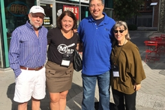James W. Hall, Alafair Burke, Lee and SJ Rozan at Bouchercon 2015 in Raleigh NC