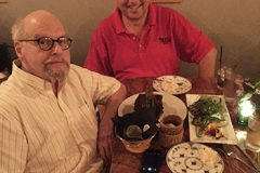 Lawrence Block and lee grab a Vietnamese dinner to die for in Raleigh NC