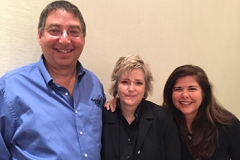Lee, Karin Slaughter and Lisa Unger at Bouchercon 2015