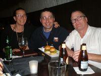 Sara Gran, me, Scott Phillips
