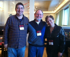 Lee Goldberg with Edgar Award nominee William Kent Krueger and author Libby Fischer Hellman