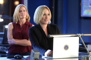 Patricia Arquette, right, stars in CSI: Cyber, a backdoor pilot which aired on CSI, which features Elisabeth Shue (left)