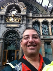 Arriving at Antwerp Train Station on a research trip for THE PURSUIT