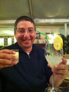 Sampling limoncello in Sorrento...one of the many sacrifices I make for my art.