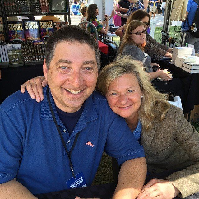 Lee Goldberg & Lisa Scottoline at the Los Angeles Times Festival of Books 2015