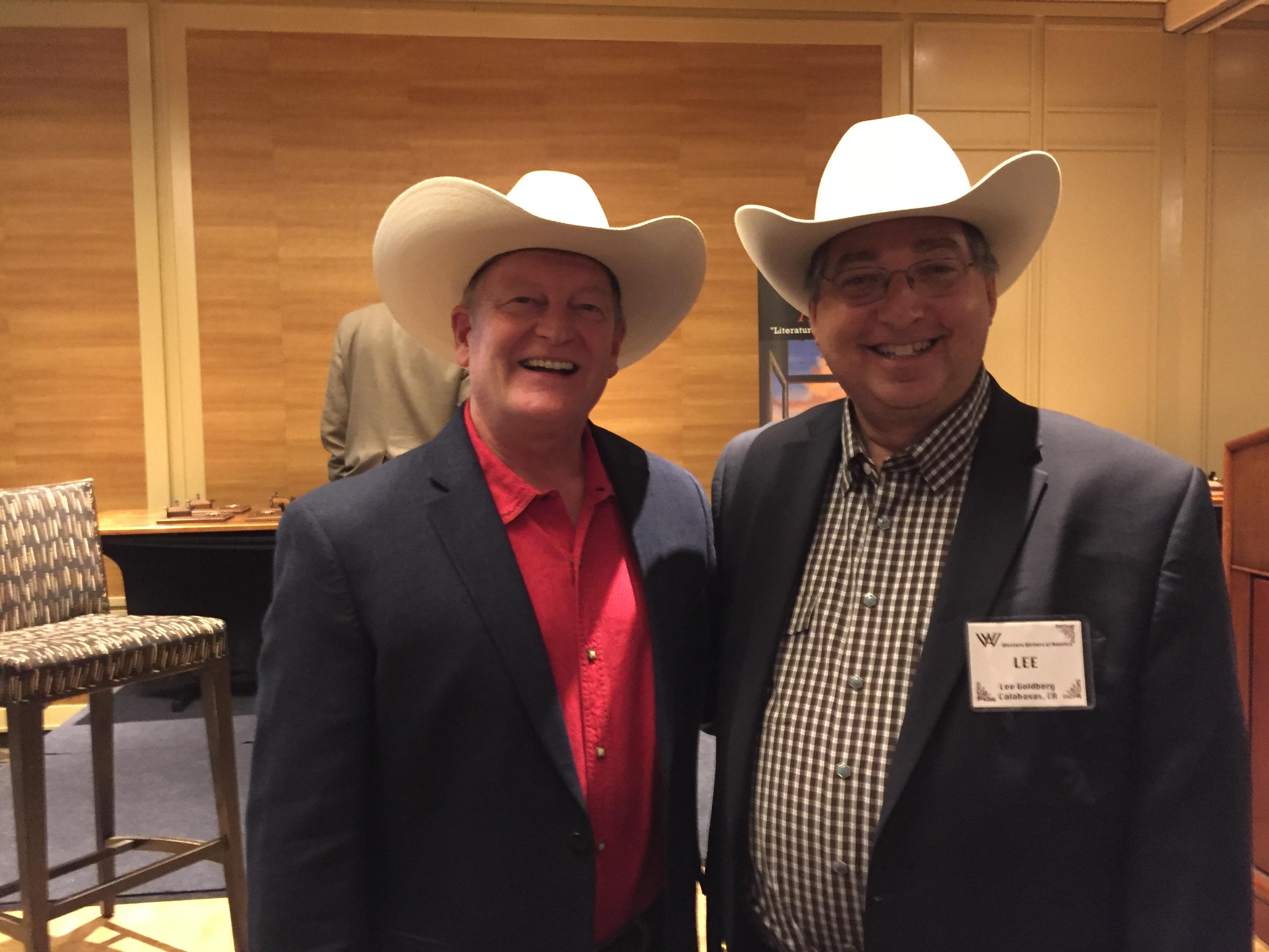 Craig Johnson and Lee Goldberg at the 2018 Spur Awards in Billings, Montana.