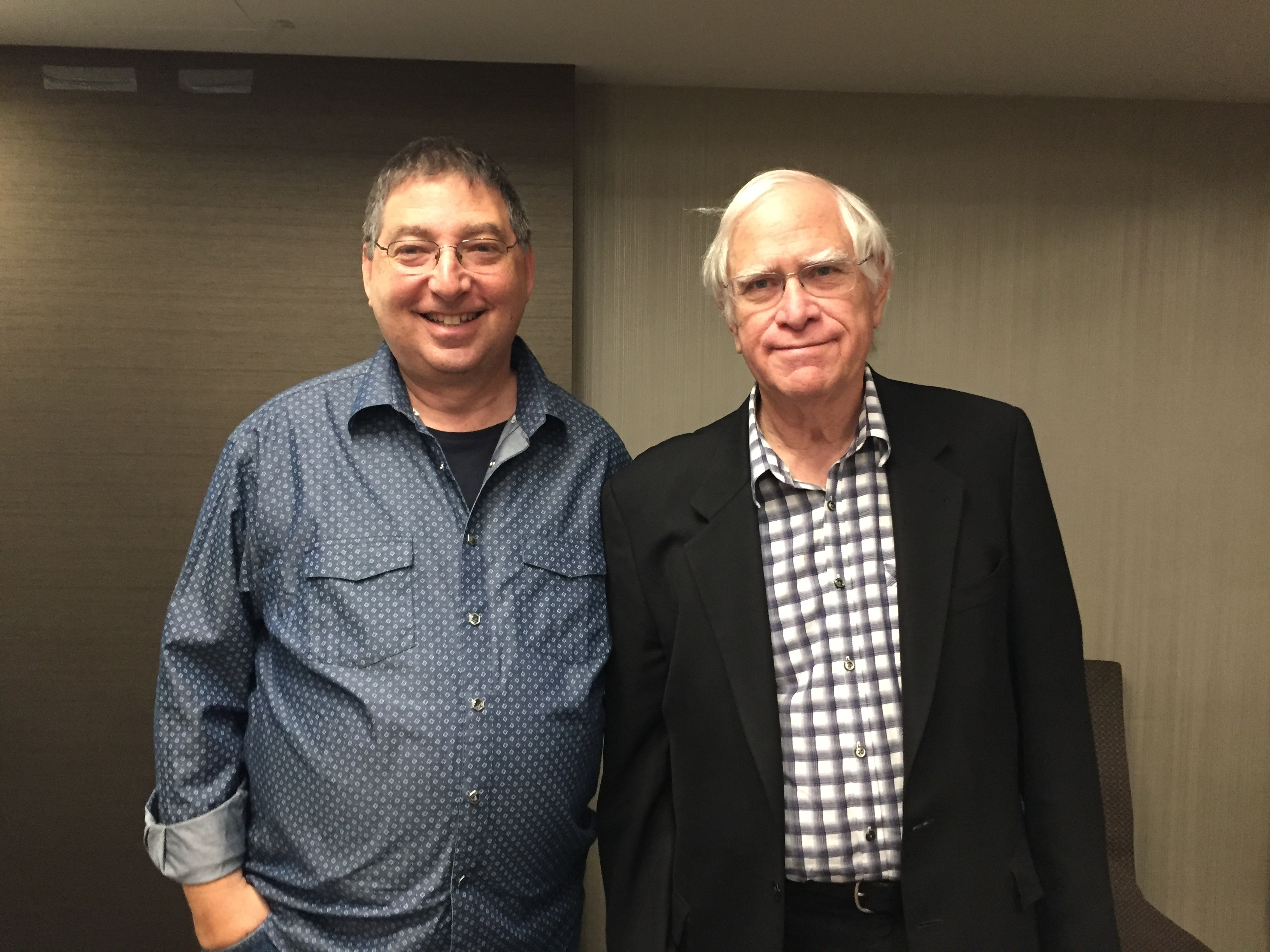 lee and novelist John Sandford at Thrillerfest 2018