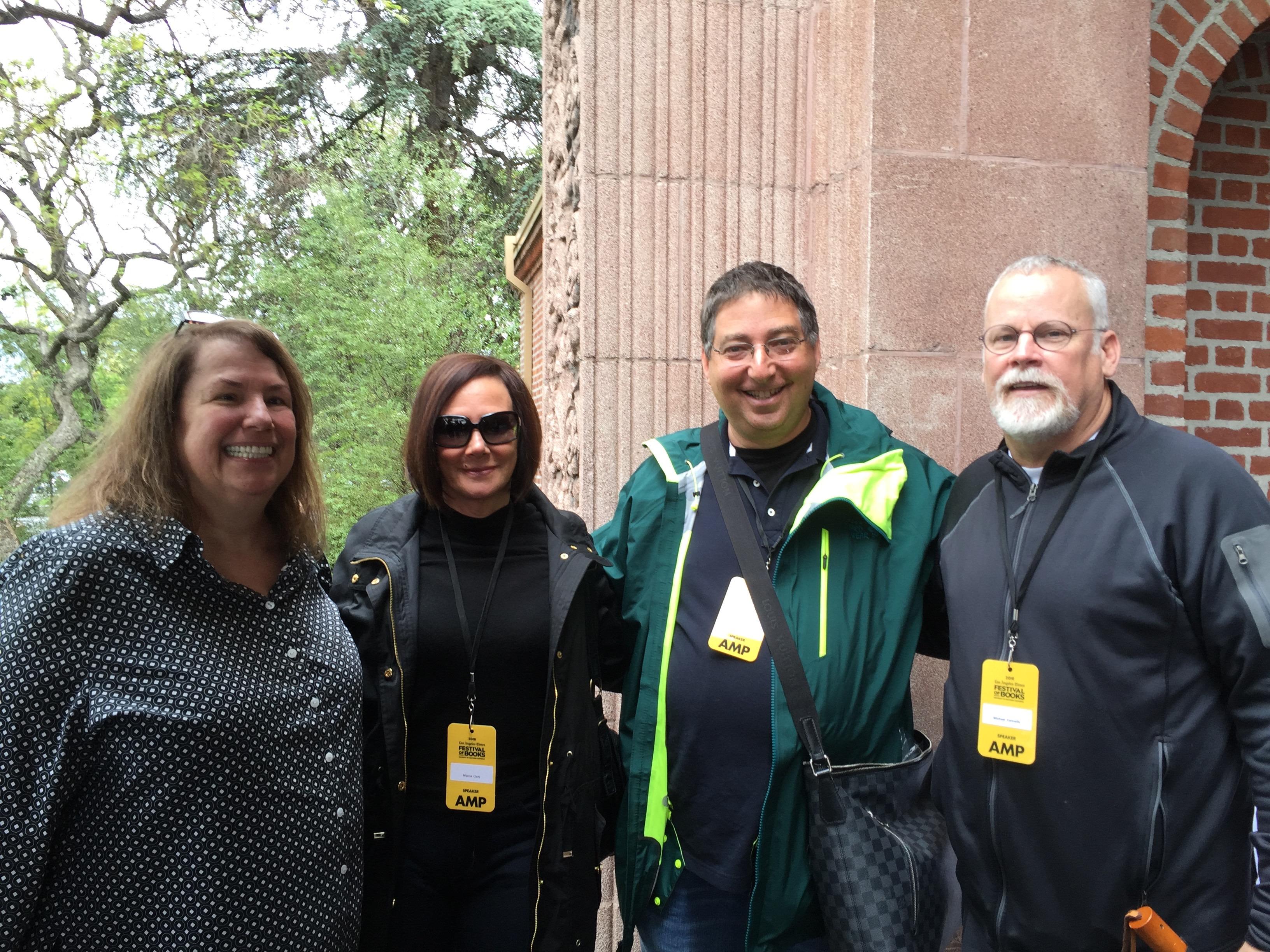 B&N Events coordinator Lita Weissman, Marcia Clark, me and Michael Connelly