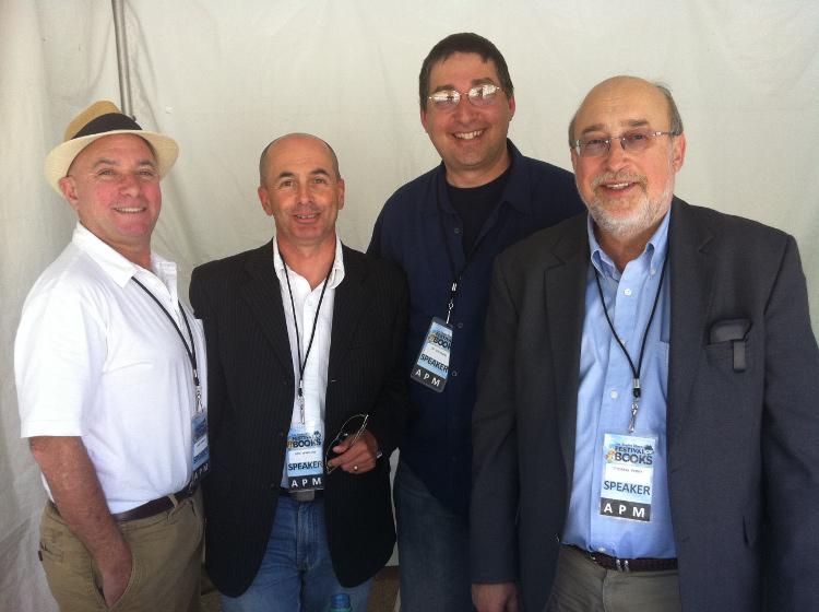 Jon Vorhaus, Don Winslow,  Lee, Thomas Perry at LA Times Festival of Books
