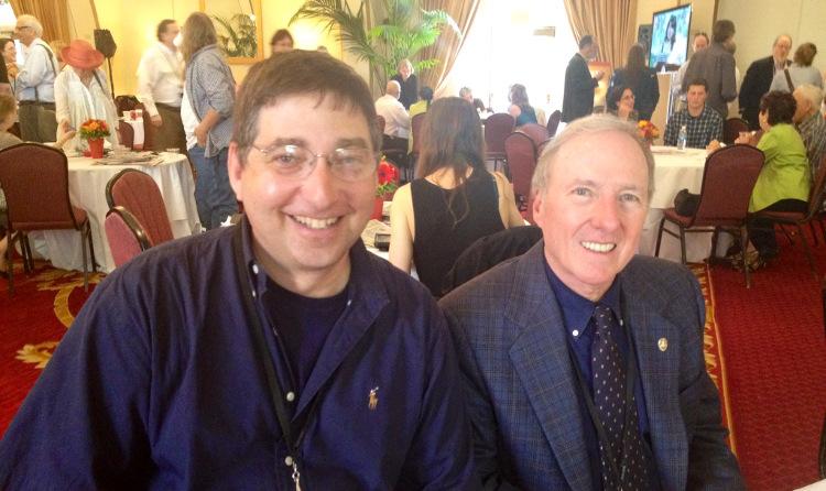 Lee Goldberg and Joseph Wambaugh at Los Angeles Times Festival of Books