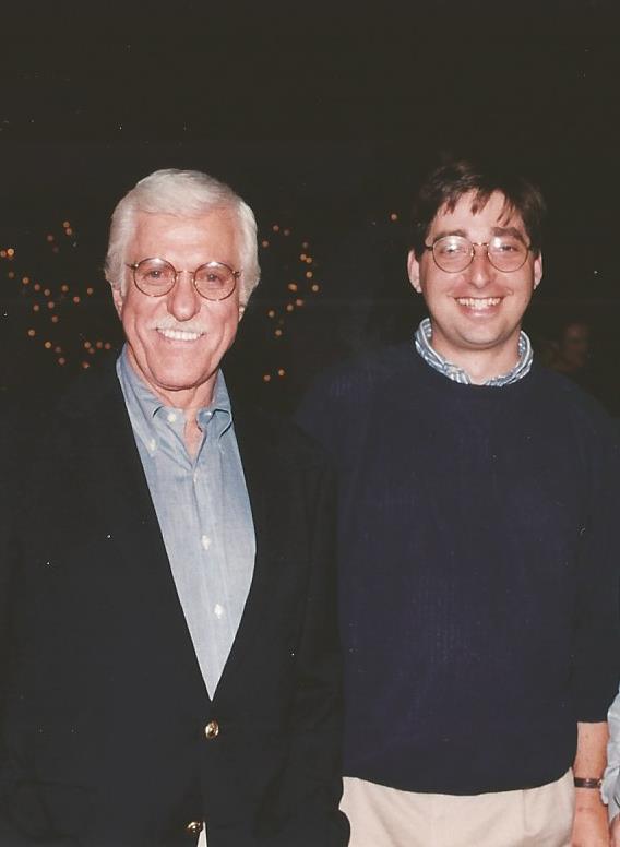 Dick Van Dyke and Lee Goldberg at Diagnosis Murder wrap party