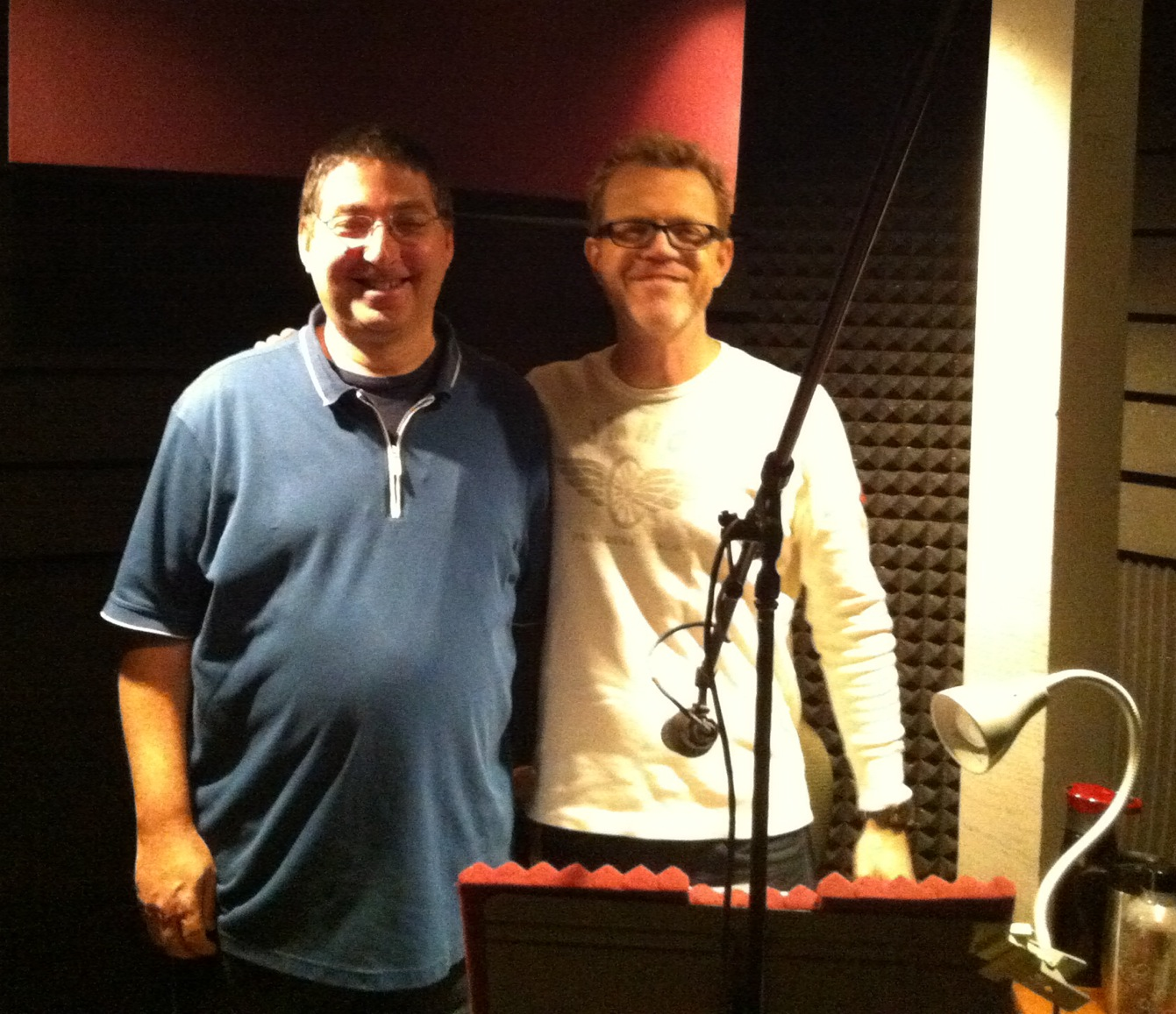 Me and audiobook recording superstar Scott Brick
