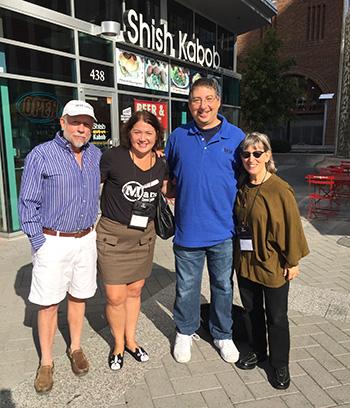 James W. Hall, Alafair Burke, Lee and SJ Rozan at Bouchercon 2015 in Raleigh NC