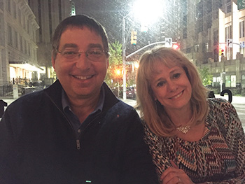 Lee and Kathy Reichs at dinner in Raleigh NC