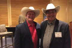 Craig Johnson and Lee Goldberg at the 2018 Spur Awards in Billings, Montana.