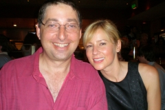 Lee and Traylor Howard at Monk wrap party